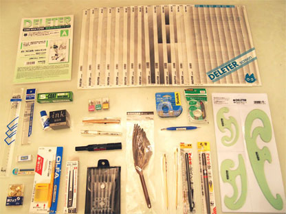 materiales para dibujar manga