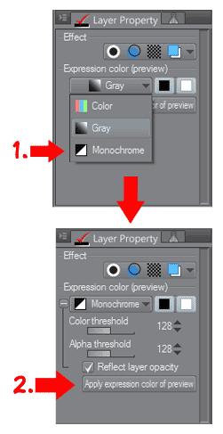 Propiedad de capa en Clip Studio Paint 1